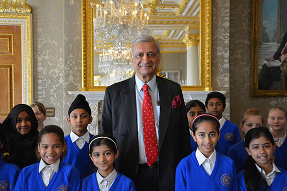 His Excellency Kamalesh Sharma Commonwealth Secretary–General with members of the Commonwealth Children's Choir