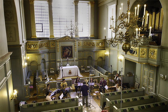 Recording in Queens Chapel, St James' Palace